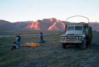 erstes Zeltlager unter freiem Himmel