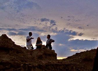 Besichtigung am frühen Abend zusammen mit Iris und Ihrem Mann Gilles