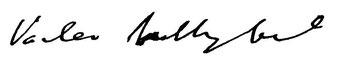 ヴァーツラフ・ネリベルのサイン