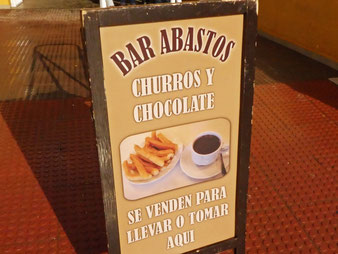 Bar Abastos churreria sign