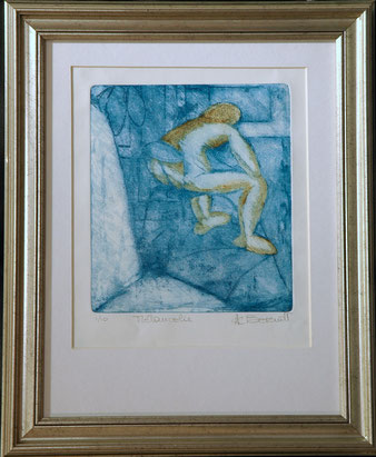 Mélancolie - Etching + Aquatint by Anne Berendt
