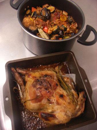 コルリなので、メーンは鶏に決定! そして味がしみた方がおいしいカポナータ