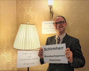 Schirmherr Improneta 2019, Improtheater, Improtheaterfestival, Improfestival Berlin Festival, Berlin lebt Impro, Hauptsache Pankow,