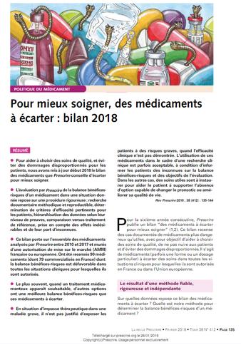 revue-prescrire-medicaments-dangereux-gastroentérite