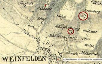 der Schlipfenberg und der Straussberg liegen nur wenige hundert Meter auseinander