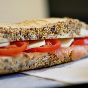 Sandwich saumon Ma Boulangerie Café
