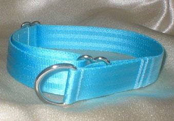 Zugstopp, Halsband, 2,5cm, Gurtband eisblau