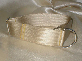 Zugstopp, Halsband, 4cm, Gurtband champagnerfarben