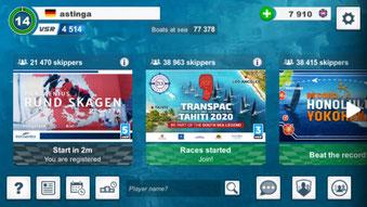 Das Startbild der App
