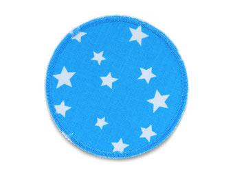 Bild: Hosenflicken rund Flicken Sternchen hellblau