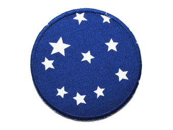 Bild: Hosenflicken Flicken Sternchen dunkelblau