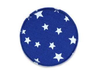 Bild: Hosenflicken Flicken Sternchen dunkelblau rund zum aufbügeln