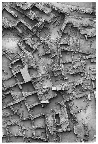 Photogrammetrie der Vorstädte östlich des Apollontempels               (IFFB Geoinformatik - Z_GIS, Universität Salzburg).
