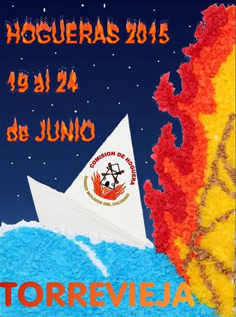 Cartel y programa de las Hogueras 2015 en Torrevieja