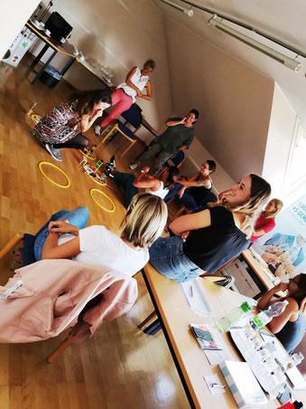 """11.09.2020: Seminar """"Zahlenland 1"""" mit Roswitha Hafen für die Pädagog*innen der Gemeinde Velden. Unser erstes Seminar in Kärnten!"""
