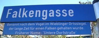 Ortsschild in Wieblingen. Foto: Maike Petersen