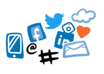 Teilen, social media