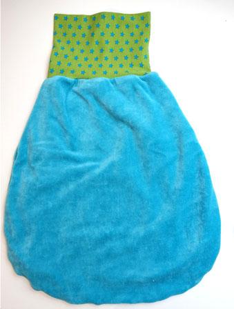 Lybstes. Geburtsgeschenke für das Baby, Pucksack, Sterne - Türkis - Grün