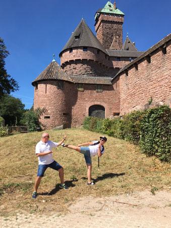 Bastien et Joel au Haut koenigsbourg !