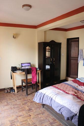 Hotelempfehlung Katmandu - Dils Homestay Schlafzimmer