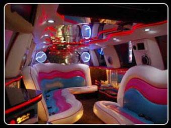 foto interior de limusina en Cádiz