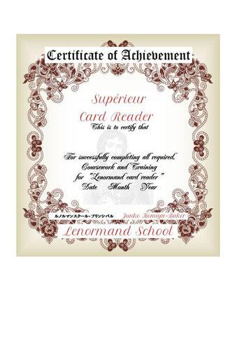 ◆CDCllcルノルマンカードリーダー認定証をお渡しします。