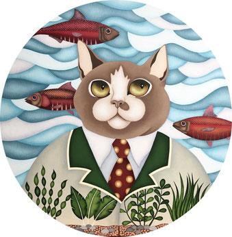 Tableaux d'animaux - chats - nantes - art naïf - figuratif