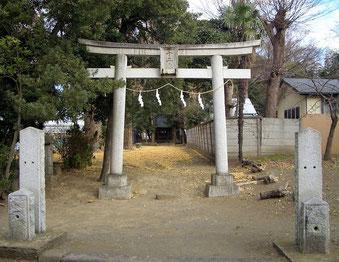 茅ヶ崎市 萩園 十二天社 (十二天神社)