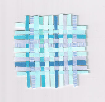 Petit bleu épais (15 cm x 15 cm)