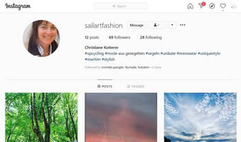 Sailart Fashion on instagram
