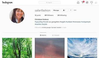 Sailart Fashion on instagram mit Segeltuchjacken und Segeltuchtaschen