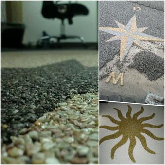 Steinteppich Schulung, Logos und Muster