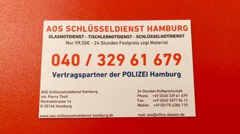 Schlüsseldienst Hamburg Telefonnummer Sammelruf