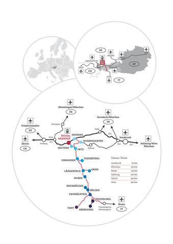 Anreise, Ötztal, Sölden, Tirol