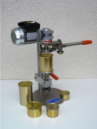 Sertisseuse manuelle de table pour boîtes rondes, modèle familial ou de laboratoires. SCIM