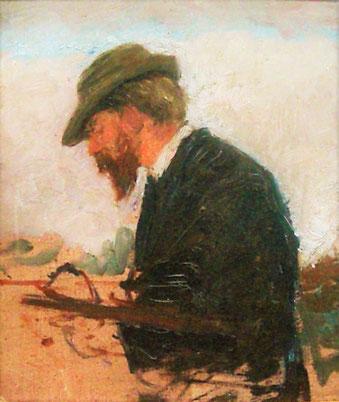 Fritz Mackensen gemalt von Otto Modersohn 1887