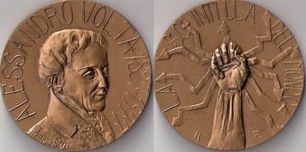 Medaglia per Alessandro Volta.