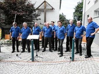 Sängerrunde beim Kirtag in Eggerding 2014
