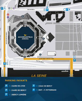 accès parking accor hotels arena paris Bercy