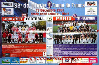 Affiche  Luçon-PSG  2001-02