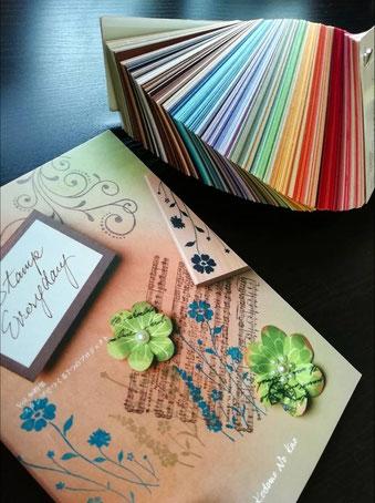 実演販売を通じて色彩の基礎を学んだことを示す写真