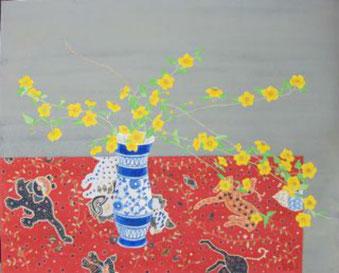 日本画 「山吹」