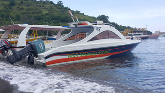 Pick up and drop off location in Teluk Nare Harbor