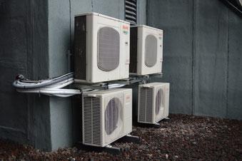 Klimaanlage über Tor