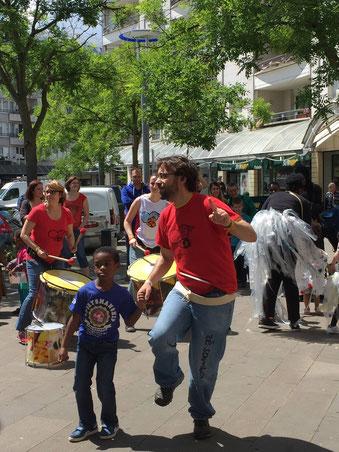 Batucada Zé Samba à la Fête des Hauts de Cergy