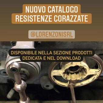 resistenze elettriche corazzate lorenzoni