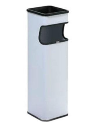 Basurero cuadrado grande BI70300 Color: Blanco Dimensiones en milímetros: Alto: 650 Largo: 182 Ancho: 182 Capacidad: 15 L / 4 gl Contenido por caja: 2 piezas