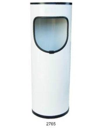 2765.Basurero Redondo Pequeño Blanco 27X65cm