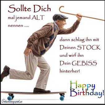 Lustige Geburtstagssprüche und Wünsche für Leute mit Humor