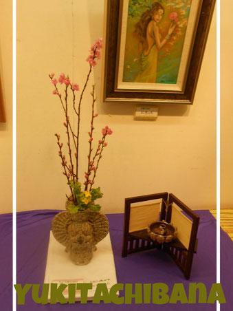 百貨店オープンギャラリー 記憶の花と夢見像  立花雪 YukiTachibana